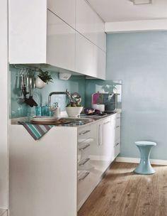Apartamento 70 M²: Tudo Azul (Ou Quase). DecoraçãO Singela Que é Um Arraso