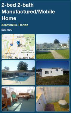 2-bed 2-bath Manufactured/Mobile Home in Zephyrhills, Florida ►$38,000 #PropertyForSale #RealEstate #Florida http://florida-magic.com/properties/7348-manufactured-mobile-home-for-sale-in-zephyrhills-florida-with-2-bedroom-2-bathroom