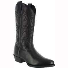 Ariat-Mens-Western-Black-Heritage-Leather-Western-Boots-Size-8-D