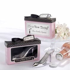 Chrome High Heel Shoe Bottle Opener Wedding Favors