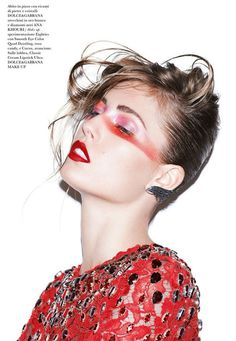 Nadja Bender Stuns in this Rocker Chic Spread for Flair Magazine #makeup #avantgarde trendhunter.com