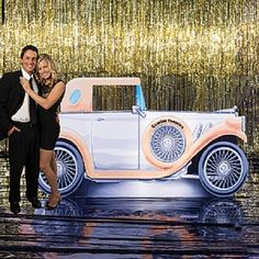 Celebrate the in style when you pose with this personalized Car Standee! Each car standee measures 4 feet 7 inches high. Step and Repeat? Great Gatsby Prom, Great Gatsby Theme, Gatsby Themed Party, 50th Party, Belle Epoque, Harlem Nights Theme, 1920s Car, Roaring 20s Party, Roaring Twenties