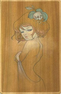 Audrey Kawasaki I could see myself getting this as a tattoo