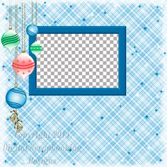 """Layout QP 29A.....Quick Page, Blue, Digital Scrapbooking, Christmas Time Collection, 12"""" x 12"""", 300 dpi, PNG File Format"""