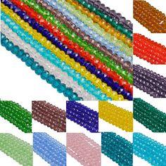 mm 6 toute fin 100 x CLAIR 6mm x 6mm acrylique Espaceur Bicone Perles nouvelle taille