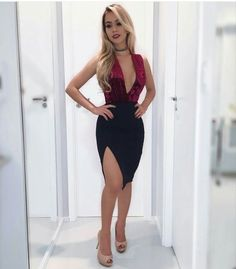 Hot Girl in Sexy Dress Skirt Outfits, Sexy Outfits, Dress Skirt, Cute Outfits, Bodycon Dress, Fashion Outfits, Moda Outfits, Fashion Ideas, Tight Dresses