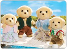 Cloverleaf Corners welcomes the Calico Critters Yellow Labrador Family! Calico Critters are flocked figures which inspire hours of imaginative play. Calico Critters Yellow Labrador Family from International Playthings. Calico Critters Families, Taking Care Of Baby, Dolls House Figures, Buddy Love, Toys R Us Canada, Thing 1, Family Set, Sylvanian Families, Kids Store