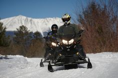 Welcome fellow snowmobilers! Maine has plenty of snow for adventure-seekers to enjoy.