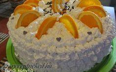 Narancsos oroszkrém torta recept fotóval
