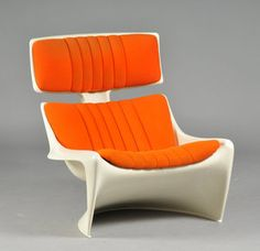 1968 Lounge Chair by Steen Ostergaard Danish Furniture, Deco Furniture, Cool Furniture, Furniture Design, Barbie Room, 70s Decor, Tazo, Space Age, Take A Seat