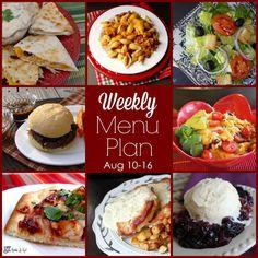 Weekly Menu Plan: August 10-16 | Jamie Cooks It Up!