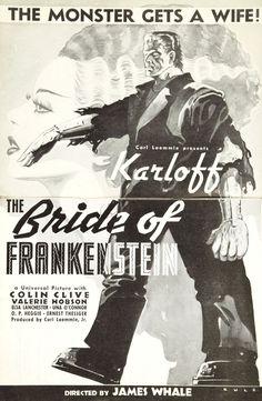 Karloff - Bride Of Frankenstein - Alternate Poster