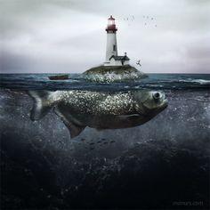 Lighthouse island.