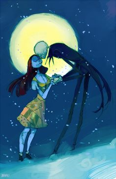 Snow Finale by ~Barukurii - Jack Skellington and Sally - The Nightmare Before Christmas