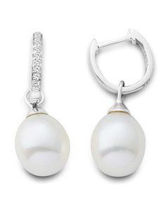 VALERIA Ohrhänger aus Weißgold mit Diamanten