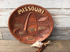 Kitsch Vintage Missouri Bowl  Retro Brown  by happydayantiques