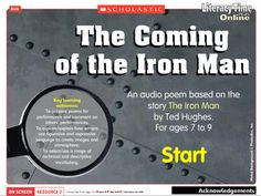 A beautifully descriptive poem by Brenda Williams, based on the opening of the story The Iron Man by Ted Hughes. Primary Resources, Teaching Resources, Teaching Ideas, Iron Man Ted Hughes, Year 2 Classroom, Rain Poems, Lron Man, Key Stage 1, Book Study