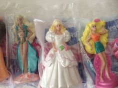 Set of 5 Barbie McDonald's Happy Meal Toys