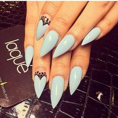 Soft robin egg blue nails