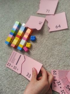 What better way to teach place value with math activities using what must kids love; Students can make base ten bundles of tens and single Legos to learn adding and regrouping! Lego Math, Math Classroom, Kindergarten Math, Fun Math, Teaching Math, Math Activities, Math Games, Math Place Value, Place Values