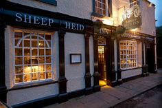 The Sheep Heid Inn - Duddingston, Edinburgh, Scotland. There has reputedly been a pub on this spot selling liquor and victuals since 1360. If this foundation date was proved correct it would make The Sheep Heid Inn perhaps the oldest surviving licensed premises in Scotland.