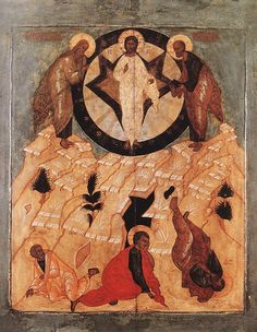 UNKNOWN MASTER, Russian Icon of the Transfiguration 16th century