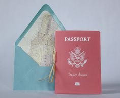 Fly Away Passport Wedding Invitation - Boarding Pass RSVP - Available in all colors + foil Passport Wedding Invitations, Graduation Invitations, Wedding Stationery, Wedding Cards, Our Wedding, Wedding Things, Wedding Stuff, Destination Wedding, Aviation Wedding Theme