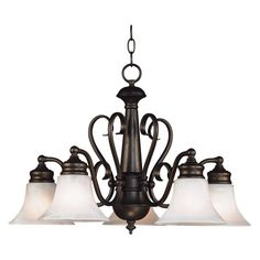 Kenroy Home Wynwood 5 Light Chandelier - 27-inch Burnished Bronze - 91395BBZ