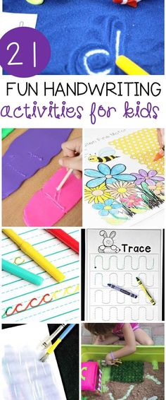 If you are teaching writing to kids, or working on handwriting skills at all, these 21 handwriting activities are perfect to add to your plans!