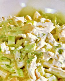 Leftover chicken, is perfect for chicken salad. Here's a straightforward rendition of the classic, without a fancy or modern twist in sight.