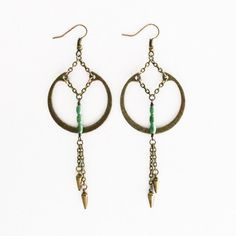 Turquoise Ring Earrings Gold, $29, now featured on Fab.