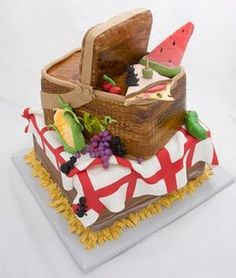 """""""Life is a Picnic and Everyone is Invited"""" Cake"""