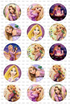 Rapunzel Tangled 1 Bottlecap Circle Images by OliverandMay