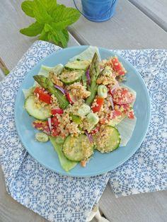 Salade de  printemps au quinoa ... ( Sans gluten, sans céréales, vegan )