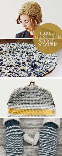 DIY-Anleitungen: Die schönsten Häkeltrends 2016, häkeln lernen / diy tutorials: crocheting, trends, patterns via DaWanda.com