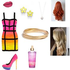 sunset in paradise by fishhfann on Polyvore featuring polyvore fashion style Balmain B Brian Atwood MARC BY MARC JACOBS Madewell Accessorize