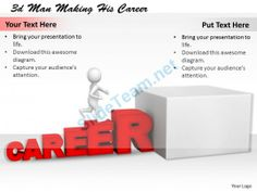 1113 3D Man Making His Career Ppt Graphics Icons Powerpoint #Powerpoint #Templates #Infographics
