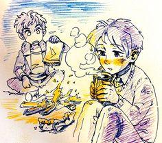 ナサニエルとバーティ Nat and Bart (from the Amulet of Samarkand) Jonathan Stroud, I Love Books, Minion, Illusions, Fanart, Harry Potter, Doodles, Fandoms, Book Stuff