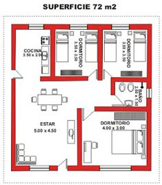 Smallest 2 br ive see 2 Bedroom House Plans, My House Plans, Small House Plans, House Floor Plans, House Floor Design, Small House Design, Modern House Design, Building Plans, Building A House