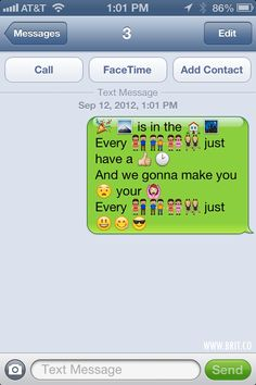 Popular Song Lyrics in iOS Emoticon Form via Brit + Co