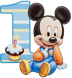 Baby Mickey Mouse One Year 1st Birthday Edible Image Photo 1/4 Quarter Sheet Cake Topper Personalized Custom Customized Birthday Party HGC http://www.amazon.com/dp/B017MQ07GQ/ref=cm_sw_r_pi_dp_cjLVwb1ZHQ3W8