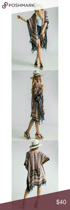 AZTEC SCARF PRINT SHRUGS w/ TASSEL TRIM MUST GO!!!! Only 4 left! Price is firm!!! Other