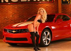 Chevy and Car Girl Click to find out more - http://newmusclecars.org/chevy-and-car-girl/