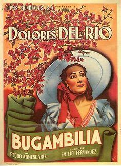 """Poster de """"Bugambilia"""" (1944), con Dolores del Río."""