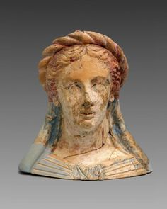 Hellenistic Period, Heraklion, Ancient Greece, Crete, Terracotta, Museum, Sculpture, Statue, Color