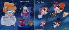 Cenas Disney em estilo Chibi