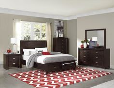 Homelegance 2244 Breese Bedroom Set with Storage Bed Brown Furniture Bedroom, Bedroom Collection, Bedroom Storage, Furniture Shop, Furniture, Classy Bedroom, Home Decor, Homelegance, Master Bedroom Set