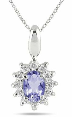 1/5 Carat TW Tanzanite and Diamond Pendant in 10K White Gold Szul. $199.00. Complimentary Packaging. 60 Day Complimentary Repair Service. 30 Day Money Back Guarantee. Save 53%!