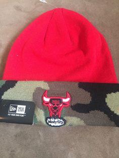 Nwt New Era  NBA  Chicago Bulls Windy City Camo Knit Beanie Hat Adult Osfa  from  14.98 74560fa9f813