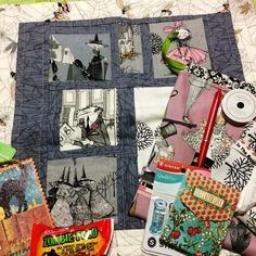 Kwilty Pleasures: GHASTLIES SWAP REVEAL - DAY 1 Monday - Projects made by @karrieofberries other items added to swap package.